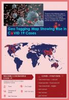 Geotagging Map Showing Rise In COVID 19 Cases Presentation Report Infographic PPT PDF Document