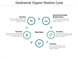 Geothermal Organic Rankine Cycle Ppt Powerpoint Presentation Gallery Deck Cpb
