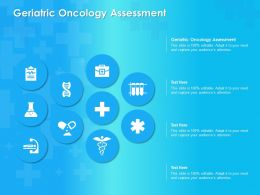 Geriatric Oncology Assessment Ppt Powerpoint Presentation Show Deck