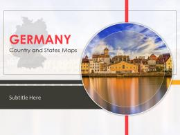 Germany Country And Sates Map Powerpoint Template