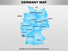 Germany Powerpoint Maps