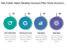 Get Credit Value Develop Account Plan Grow Account Business