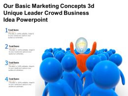 Get Out Of The Dock With Our Basic Marketing Concepts 3d Unique Leader Crowd Business Powerpoint