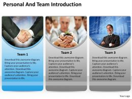 Get Personal And Team Introduction 0114