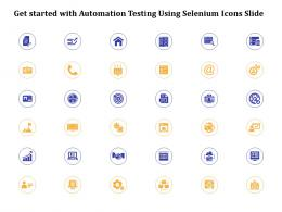 Get Started With Automation Testing Using Selenium Icons Slide Ppt Powerpoint Presentation