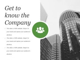 Get To Know The Company Powerpoint Slide Background Image