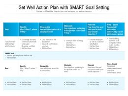 Get Well Action Plan With SMART Goal Setting