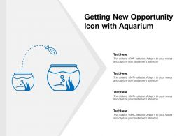 Getting New Opportunity Icon With Aquarium