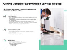 Getting Started For Extermination Services Proposal Ppt Slides Templates