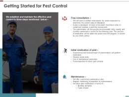 Getting Started For Pest Control Ppt Powerpoint Template Deck