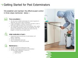 Getting Started For Pest Exterminators Ppt Powerpoint Presentation Professional Icon