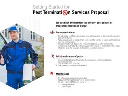 Getting Started For Pest Termination Services Proposal Ppt Powerpoint Presentation Inspiration
