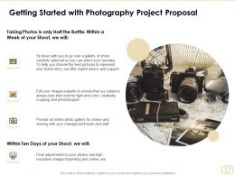 Getting Started With Photography Project Proposal Ppt Powerpoint Presentation