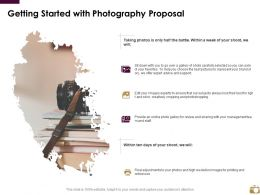 Getting Started With Photography Proposal Ppt Powerpoint Presentation Slides Portrait