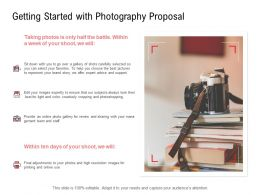 Getting Started With Photography Proposal Resolution Ppt Powerpoint Slides