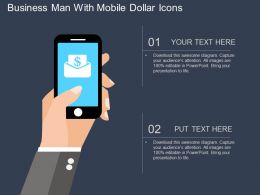 Gf Business Man With Mobile Dollar Icons Flat Powerpoint Design