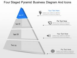 gg Four Staged Pyramid Business Diagram And Icons Powerpoint Template