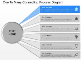 gg One To Many Connecting Process Diagram Powerpoint Template