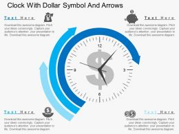 Gh Clock With Dollar Symbol And Arrows Flat Powerpoint Design