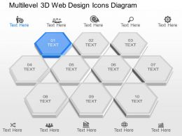 gh Multilevel 3d Web Design Icons Diagram Powerpoint Template