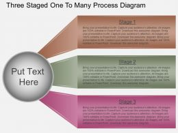 Gh Three Staged One To Many Process Diagram Powerpoint Template