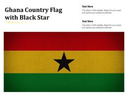 Ghana Country Flag With Black Star