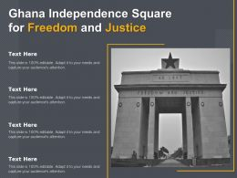Ghana Independence Square For Freedom And Justice