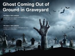Ghost Coming Out Of Ground In Graveyard