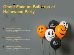 Ghost Face On Balloons At Halloween Party