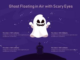 Ghost Floating In Air With Scary Eyes