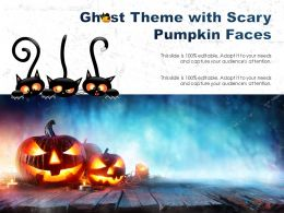 Ghost Theme With Scary Pumpkin Faces