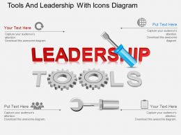 Gi Tools And Leadership With Icons Diagram Powerpoint Template