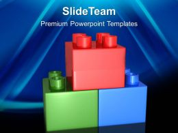 Giant Building Blocks Powerpoint Templates Lego Game Process Ppt