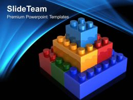 Giant Building Blocks Powerpoint Templates Lego Teamwork Ppt Theme