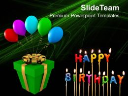 Gift And Balloons Happy Birthday Celebration PowerPoint Templates PPT Themes And Graphics 0213