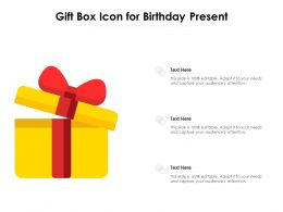 Gift Box Icon For Birthday Present