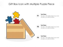 Gift Box Icon With Multiple Puzzle Piece