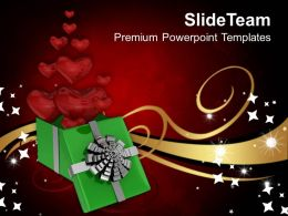 Gift Box Of Heart And Love PowerPoint Templates PPT Themes And Graphics 0213
