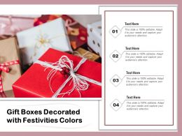 Gift Boxes Decorated With Festivities Colors