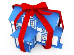 Gift Dream Home Stock Photo