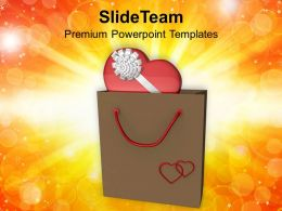 Gift In Shopping Bag Valentines Day PowerPoint Templates PPT Themes And Graphics 0213