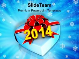 Gift Of New Year 2014 PowerPoint Templates PPT Backgrounds For Slides 1113