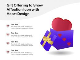 Gift Offering To Show Affection Icon With Heart Design