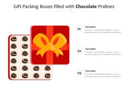 Gift Packing Boxes Filled With Chocolate Pralines