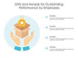 Gifts And Awards For Outstanding Performance By Employees Infographic Template