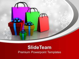 Gifts And Shopping Bags Marketing PowerPoint Templates PPT Themes And Graphics