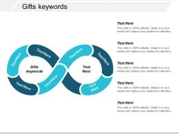 Gifts Keywords Ppt Powerpoint Presentation Gallery Brochure Cpb