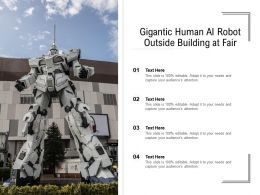 Gigantic Human Ai Robot Outside Building At Fair