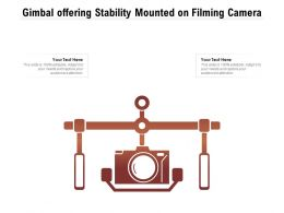 Gimbal Offering Stability Mounted On Filming Camera