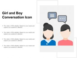 Girl And Boy Conversation Icon